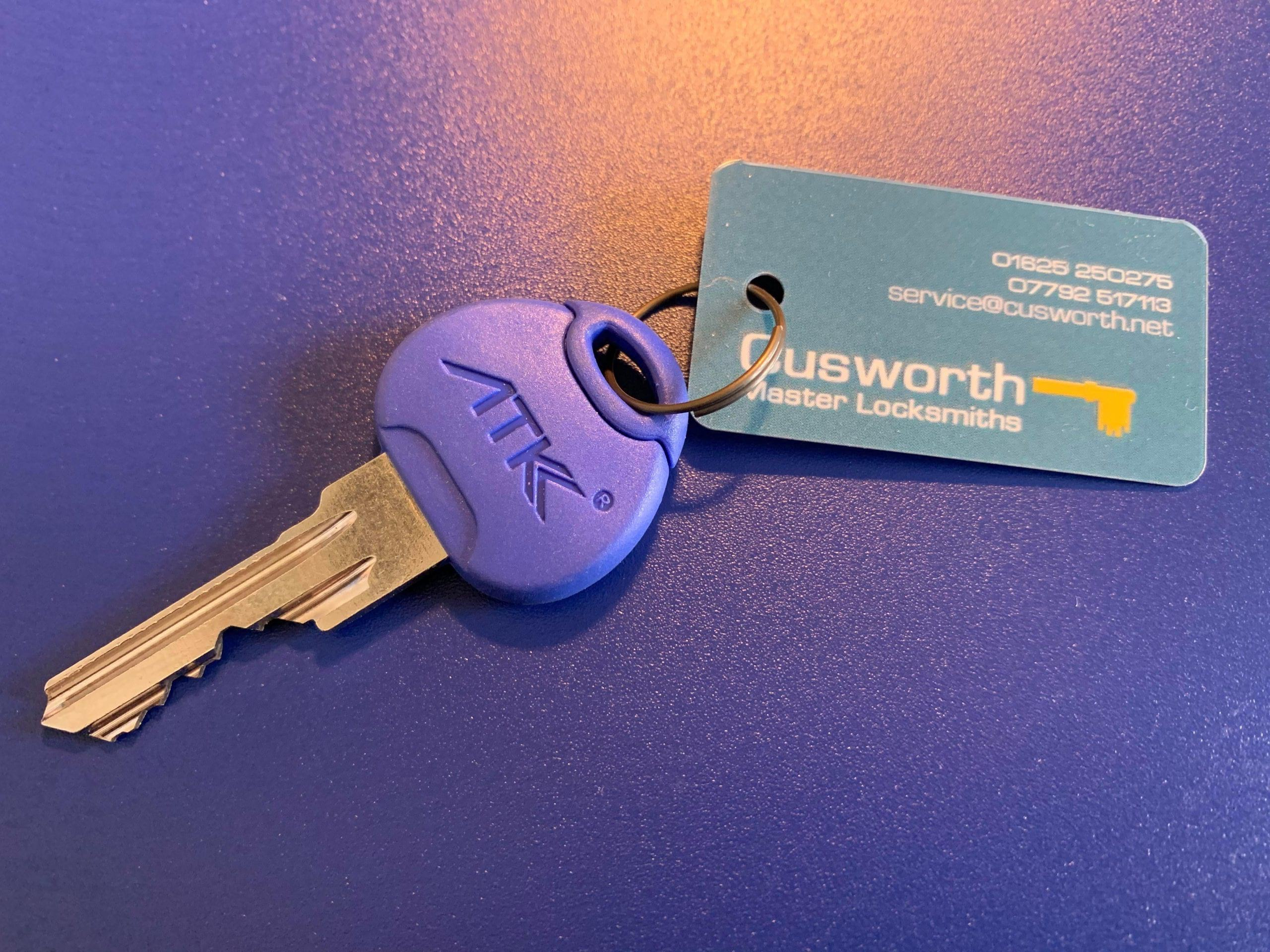 ATK Avocet key cut by Cusworth Master Locksmiths.