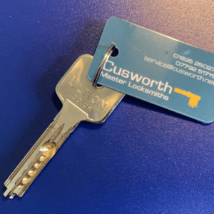 Brisant Ultion WXM key cut by Cusworth Master Locksmiths.