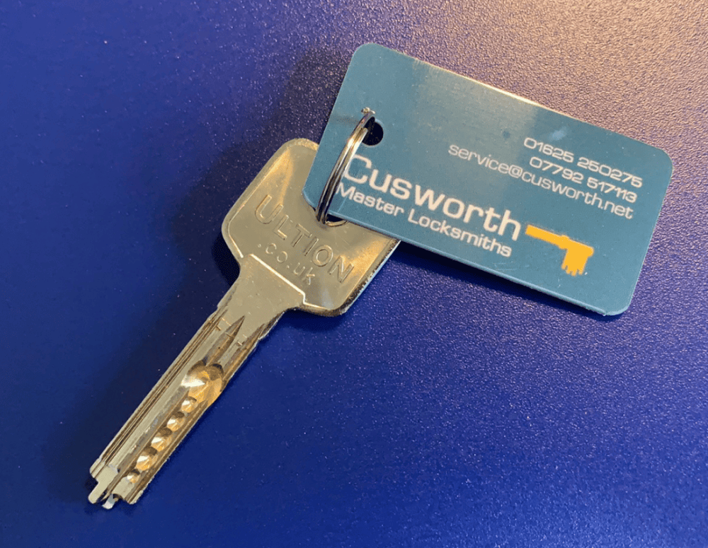 Brisant Ultion key cut by Cusworth Master Locksmiths.