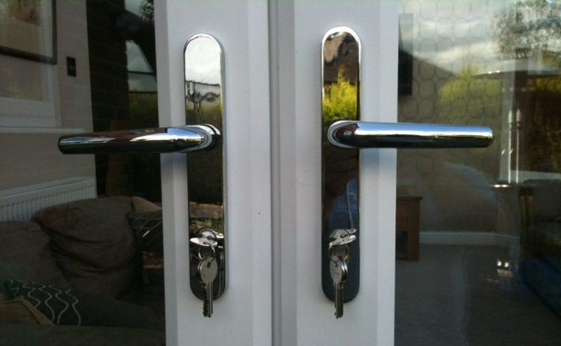 A set of well maintained uPVC doors with anti-snap cylinders.