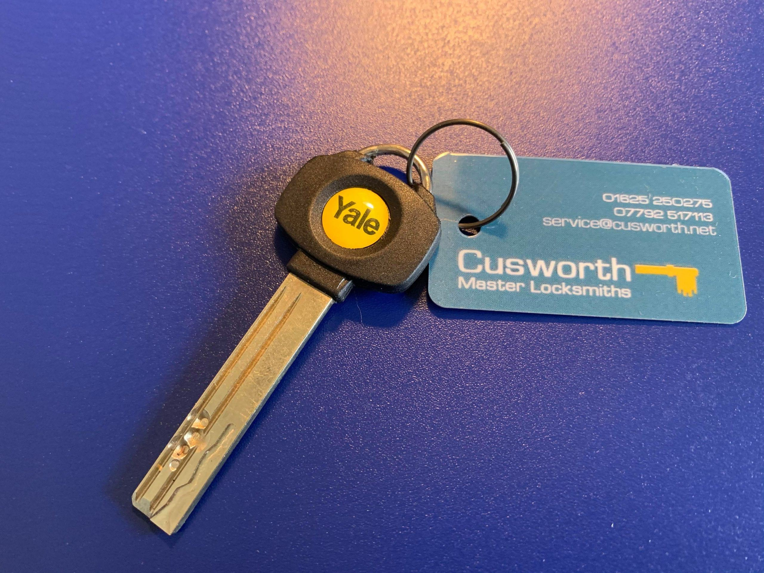 Yale Platinum 3 star keys cut by Cusworth Master Locksmiths.